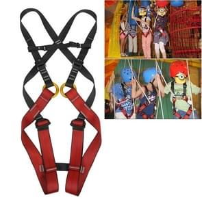 XINDA XDA9516 Outdoor Rock Climbing Polyester High-strength Wire Adjustable Downhill Whole Body Safety Belt Children Size: L