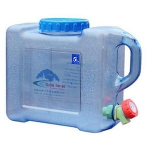 Food Grade PC Drinking Water Storage Bucket Outdoor Camping Accessories, Capacity: 5L