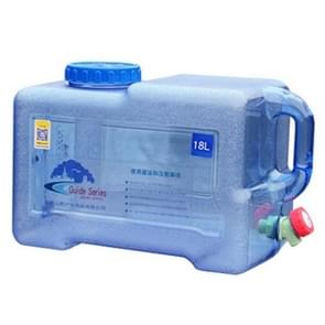 Food Grade PC Drinking Water Storage Bucket Outdoor Camping Accessories, Capacity: 18L