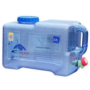 Food Grade PC Drinking Water Storage Bucket Outdoor Camping Accessories, Capacity: 22L
