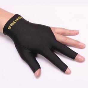 Biljart Snooker linkerhand drie vinger & Vingerloze handschoenen  willekeurige kleur levering