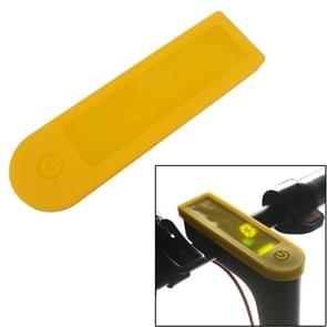 LED Display Waterproof Silicone Sleeve for Xiaomi Mijia M365(Yellow)