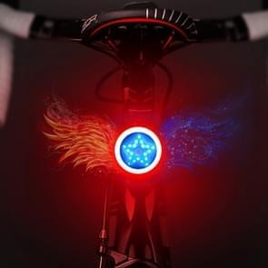 USB opladen rood blauw kleur paardrijden licht achterlicht veiligheidswaarschuwing licht (pentagram stijl)