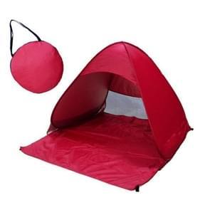 Opvouwbare vrij om te bouwen van automatische snelle snelheid Open buiten Camping strand Tent met draagtas voor 2 volwassenen of 3 kinderen gebruik  formaat: 1.65x1.5x1.1m (rood)