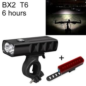 BX2 USB Charging Bicycle Light Front Handlebar Led Light (6 Hours, T6+A02 Lamp)