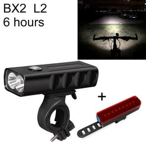 BX2 USB Charging Bicycle Light Front Handlebar Led Light (6 Hours, L2+A02 Lamp)