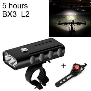 BX3 USB Charging Bicycle Light Front Handlebar Led Light (5 Hours, L2+Gem Lamp)