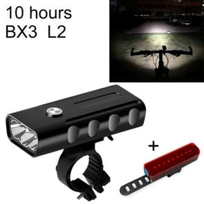 BX3 USB Charging Bicycle Light Front Handlebar Led Light (10 Hours, L2+A02 Lamp)
