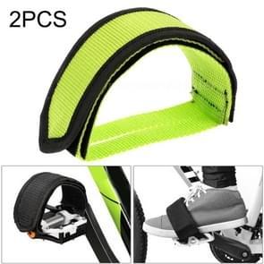 2 PCS Fiets pedalen Banden Voeten Set Met Anti-slip Straps Beam Foot (Geel)