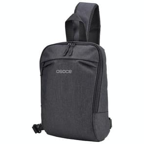 B19 Osoce outdoor grote capaciteit schuin over waterdichte Business één schouder rugzak (zwart)