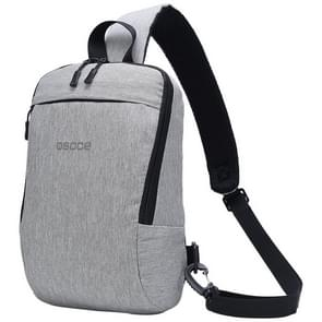 B19 Osoce Outdoor Large Capacity Slant Across Waterproof Business Single Shoulder Backpack (Silver Grey)