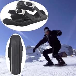 Een paar outdoor sport mini ski schoenen ski board  grootte: One size (zwart)
