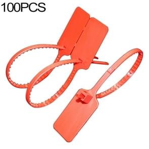 100 PCS Plastic Seal Cable Tie Padlock for Logistics Security, Random Colors Delivery