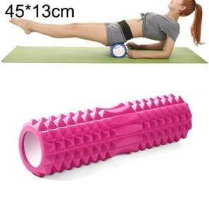 Yoga Pilates Fitness EVA Roller Muscle Relaxation Massage, Size: 45cm x 13cm (Pink)