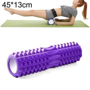 Yoga Pilates Fitness EVA Roller Muscle Relaxation Massage, Size: 45cm x 13cm (Purple)