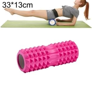 Yoga Pilates Fitness EVA Roller Muscle Relaxation Massage, Size: 33cm x 13cm (Pink)