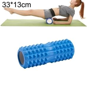 Yoga Pilates Fitness EVA Roller Muscle Relaxation Massage, Size: 33cm x 13cm (Blue)