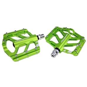 SHANMASHI TIGER 1 Pair Anti-slip Foot Pedal Aluminium Shaft Mountain Bike Pedal(Groen)