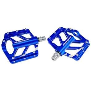 SHANMASHI TIGER 1 Pair Anti-slip Foot Pedal Aluminium Shaft Mountain Bike Pedal(Blauw)