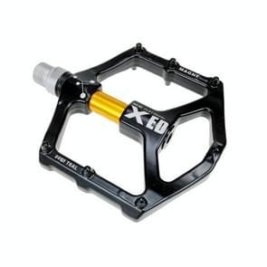 SHANMASHI 1031 Magnesium Alloy Pedaal Non-slip comfortabel fiets vouwpedaal (Goud)