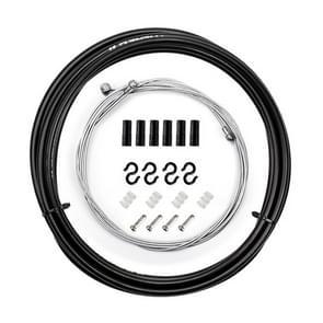 7 in 1 Mushroom Head PVC Brake Cable Tube Set voor Race Bike (Zwart)