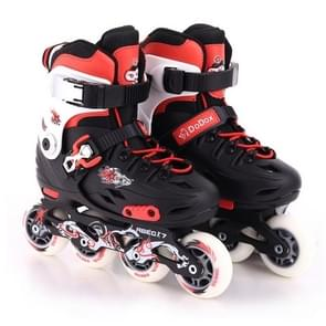 Children Thickened Bracket Roller Skates Skating Shoes, Size : S(Red)