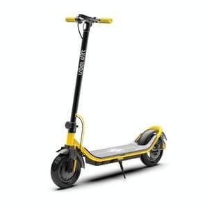 [US Warehouse] 500W Opvouwbare IP64 Waterdichte Magnesium Legering Elektrische Scooter met 10 inch Banden & LED Display & LED-verlichting & 10AH Lithium Batterij  Laadcapaciteit: 100kg(Geel)