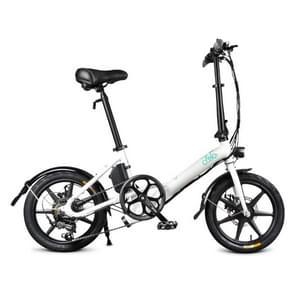 [EU-opslagplaats] Fiido D3S 7.8Ah 250W Drietraps 16 inch opvouwbare elektrische fietsscooter(wit)