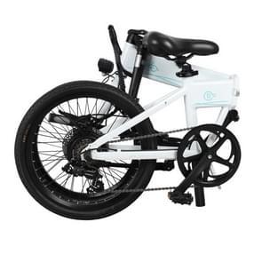 [EU-opslagplaats] Fiido D4S 10.4Ah 250W Drie-speed variabele snelheid 20 inch Spaak wiel opvouwbare elektrische fiets  crack snelheid tot 30km/h (Wit)