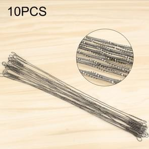 10 PCS 130 x 0.1mm High Carbon Steel Filament Small Toothed Belt Spiral Pull Flower Saw Blade for U Shape Hacksaw (OG7432)