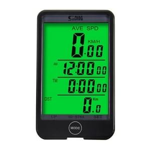 SUNDING SD-576A Bicycle Speedometer Wired Computer Stopwach Odometer with LCD Backlight Screen
