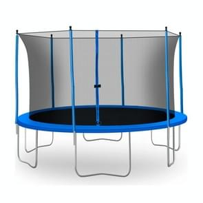 [US Warehouse] 13FT Outdoor Activity Round Trampoline Bouncing Bed  Size: 156x156x112.6 inch(Blue)