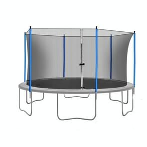 [US Warehouse] 15FT Outdoor Activity Round Trampoline Bouncing Bed  Size: 180x180x112.6 inch(Grey)