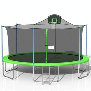 [US Warehouse] 16FT Outdoor Activity Round Trampoline Bouncing Bed with backboard(Green) [US Warehouse] 16FT Outdoor Activity Round Trampoline Bouncing Bed with backboard(Green) [US Warehouse] 16FT Outdoor Activity Round Trampoline Bouncing Bed with backb