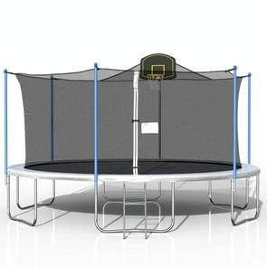 [US Warehouse] 16FT Outdoor Activity Round Trampoline Bouncing Bed with backboard(Black) [US Warehouse] 16FT Outdoor Activity Round Trampoline Bouncing Bed with backboard(Black) [US Warehouse] 16FT Outdoor Activity Round Trampoline Bouncing Bed with backb
