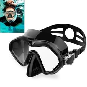 DM800 Silica Gel Diving Mask Swimming Goggles Diving Equipment for Adults (Black)