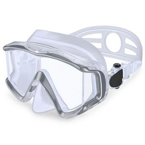 DM600 Silica Gel Diving Mask Swimming Goggles Diving Equipment for Adults (White)