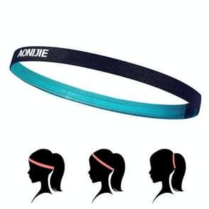 AONIJIE hoge elastische Tennis hoofdband zweet Bands  Unisex buiten uitgevoerd rijden zweet gids Bands  hoofd omtrek: 46-60cm(Green)