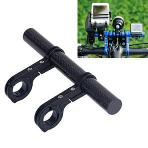 HLD-208 Mountainous Bicycle Carbon Fiber Handlebar Extension Frame Flashlight Bracket (Black)