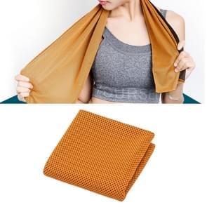 2 PC's Microfiber stof sportschool sport handdoek blijvende ijs handdoek  grootte: 30*100cm(Orange)