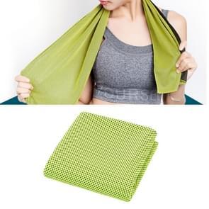 2 PC's Microfiber stof sportschool sport handdoek blijvende ijs handdoek  grootte: 30*100cm(Green)
