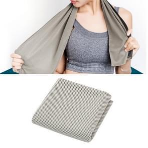 2 PC's Microfiber stof sportschool sport handdoek blijvende ijs handdoek  grootte: 30*100cm(Grey)
