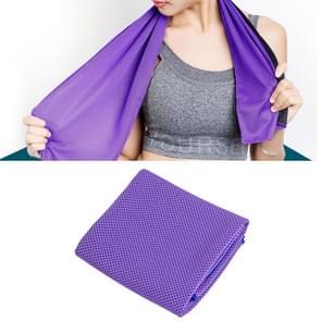 2 PC's Microfiber stof sportschool sport handdoek blijvende ijs handdoek  grootte: 30*100cm(Purple)