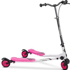 [Amerikaans pakhuis] Merax opvouwbare scooter dubbel traps scooter voor kinderen ouder dan 3 jaar  met verstelbare handgreep  draaglijk gewicht: 220 lbs (Roze)