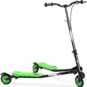 [Amerikaans pakhuis] Merax opvouwbare scooter dubbel traps scooter voor kinderen ouder dan 3 jaar  met verstelbare handgreep  draaglijk gewicht: 220 lbs (Groen)
