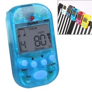 Mini Professional Electronic Piano Violin Clip High-quality Metronome Digital Tuner M50(Blue)