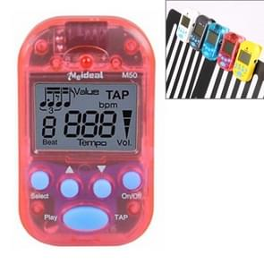 Mini Professional Electronic Piano Violin Clip High-quality Metronome Digital Tuner M50(Red)