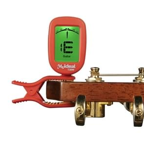 Guitar Tuner Clip on-Accurate Chromatic, Acoustic Guitar Bass Banjo Violin Ukulele Tuner(Red)