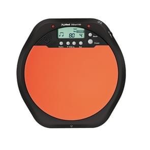 Electronic Dumb Combat Board Trainer Drum Exercise Metronome DS100(Black+Orange)
