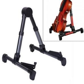 Simple Folding Vertical Guitar Violin Ukulele Bracket Musical Instrument Stand(Dark Grey)